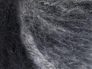 Mohair  Fiber Content 30% Wool, 30% Mohair, 20% Polyamide, 20% Acrylic, White, Brand Ice Yarns, Grey Shades, Black, fnt2-65343