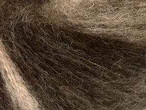Mohair  Fiber Content 30% Mohair, 30% Wool, 20% Acrylic, 20% Polyamide, Brand Ice Yarns, Brown Shades, fnt2-65344