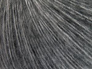 Mohair  Fiber Content 45% Acrylic, 25% Wool, 20% Mohair, 10% Polyamide, Brand Ice Yarns, Grey Shades, fnt2-65354