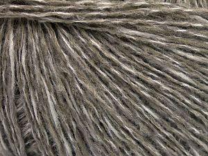 Fiber Content 60% Wool, 40% Acrylic, White, Light Khaki, Brand Ice Yarns, fnt2-65543