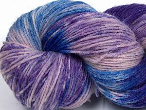 Please note that this is a hand-dyed yarn. Colors in different lots may vary because of the charateristics of the yarn. Also see the package photos for the colorway in full; as skein photos may not show all colors. Fiber Content 75% Super Wash Wool, 25% Polyamide, Purple, Pink, Lilac, Brand Ice Yarns, Blue, fnt2-66021
