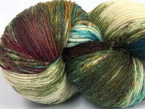 Please note that this is a hand-dyed yarn. Colors in different lots may vary because of the charateristics of the yarn. Also see the package photos for the colorway in full; as skein photos may not show all colors. Fiber Content 75% Super Wash Wool, 25% Polyamide, Turquoise, Brand Ice Yarns, Green Shades, Cream, Brown Shades, fnt2-66023