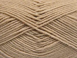 Fiber Content 60% Merino Wool, 40% Acrylic, Brand Ice Yarns, Beige, fnt2-66075