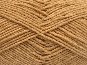 Fiber Content 60% Merino Wool, 40% Acrylic, Light Camel, Brand Ice Yarns, fnt2-66076