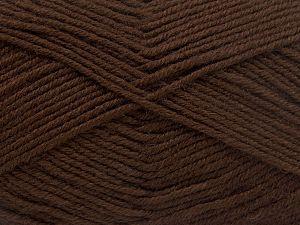 Fiber Content 60% Merino Wool, 40% Acrylic, Brand Ice Yarns, Dark Brown, fnt2-66078