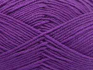 Fiber Content 60% Merino Wool, 40% Acrylic, Lilac, Brand Ice Yarns, fnt2-66085