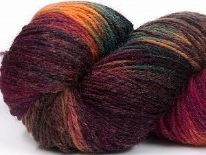 Please note that this is a hand-dyed yarn. Colors in different lots may vary because of the charateristics of the yarn. Also see the package photos for the colorway in full; as skein photos may not show all colors. Fiber Content 75% Super Wash Wool, 25% Polyamide, Turquoise, Salmon, Maroon, Brand Ice Yarns, Fuchsia, Brown, fnt2-66269