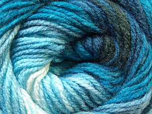 Fiber Content 100% Acrylic, Brand ICE, Blue Shades, Black, Yarn Thickness 3 Light  DK, Light, Worsted, fnt2-22016