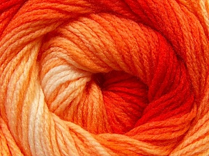 Fiber Content 100% Acrylic, Yellow, Red, Orange, Brand ICE, Yarn Thickness 3 Light  DK, Light, Worsted, fnt2-22020