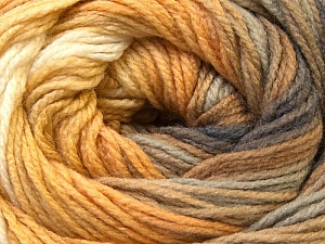 Fiber Content 100% Acrylic, Yellow, White, Brand ICE, Grey, Camel, Yarn Thickness 3 Light  DK, Light, Worsted, fnt2-22027