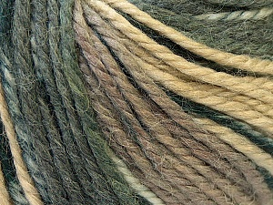 Fiber Content 40% Acrylic, 35% Wool, 25% Alpaca, Brand ICE, Grey, Cream, Camel, Yarn Thickness 5 Bulky  Chunky, Craft, Rug, fnt2-25415