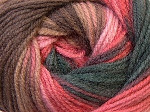 Fiber Content 100% Acrylic, Pink Shades, Brand ICE, Brown Shades, Yarn Thickness 3 Light  DK, Light, Worsted, fnt2-33056