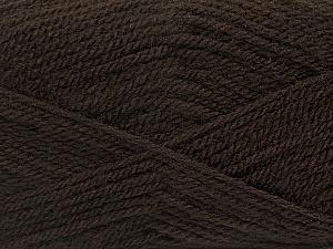 Fiber Content 100% Premium Acrylic, Brand ICE, Dark Brown, Yarn Thickness 3 Light  DK, Light, Worsted, fnt2-46504