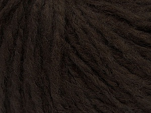 Fiber Content 60% Acrylic, 40% Wool, Brand ICE, Dark Brown, Yarn Thickness 4 Medium  Worsted, Afghan, Aran, fnt2-48785