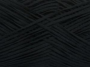 Fiber Content 50% Acrylic, 50% Cotton, Brand ICE, Black, Yarn Thickness 2 Fine  Sport, Baby, fnt2-49416