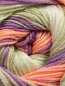 . Fiber Content 100% Baby Acrylic, White, Lilac, Light Salmon, Light Green, Brand ICE, Yarn Thickness 2 Fine  Sport, Baby, fnt2-50007