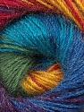 Fiber Content 57% Premium Acrylic, 3% Metallic Lurex, 20% Wool, 20% Mohair, Rainbow, Brand ICE, Yarn Thickness 2 Fine  Sport, Baby, fnt2-50327