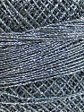 Fiber Content 70% Polyester, 30% Metallic Lurex, Brand YarnArt, Silver, Grey, Yarn Thickness 0 Lace  Fingering Crochet Thread, fnt2-52250