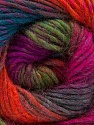 Fiber Content 70% Dralon, 30% Wool, Purple, Orange, Brand ICE, Green, Fuchsia, Blue, Yarn Thickness 4 Medium  Worsted, Afghan, Aran, fnt2-52568