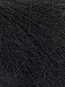 Fiber Content 52% SuperKid Mohair, 35% Polyamide, 13% Superwash Extrafine Merino Wool, Brand ICE, Black, Yarn Thickness 1 SuperFine  Sock, Fingering, Baby, fnt2-53026
