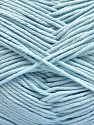 Baby cotton is a 100% premium giza cotton yarn exclusively made as a baby yarn. It is anti-bacterial and machine washable! Fiber Content 100% Giza Cotton, Light Blue, Brand ICE, Yarn Thickness 3 Light  DK, Light, Worsted, fnt2-53081