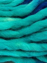 Fiber Content 100% Superwash Wool, Turquoise, Brand ICE, Cream, Blue, Yarn Thickness 6 SuperBulky  Bulky, Roving, fnt2-53567