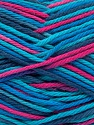 Fiber Content 100% Cotton, Turquoise Shades, Navy, Brand ICE, Fuchsia, Yarn Thickness 3 Light  DK, Light, Worsted, fnt2-54356