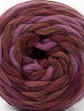 Fiber Content 100% Wool, Maroon, Lilac, Brand ICE, Brown, Yarn Thickness 6 SuperBulky  Bulky, Roving, fnt2-55554