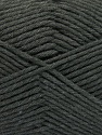 Fiber Content 50% SuperFine Acrylic, 50% SuperFine Nylon, Brand ICE, Dark Grey, Yarn Thickness 4 Medium  Worsted, Afghan, Aran, fnt2-56280