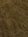 Knitted as 4 ply Fiber Content 40% Polyamide, 30% Kid Mohair, 30% Acrylic, Brand ICE, Dark Khaki, Yarn Thickness 1 SuperFine  Sock, Fingering, Baby, fnt2-56520