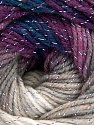 Fiber Content 95% Acrylic, 5% Lurex, Silver, Purple Shades, Brand ICE, Grey Shades, Blue, Yarn Thickness 3 Light  DK, Light, Worsted, fnt2-56751