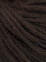 Fiber Content 50% Acrylic, 50% Wool, Brand ICE, Dark Brown, Yarn Thickness 4 Medium  Worsted, Afghan, Aran, fnt2-57002