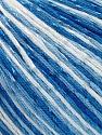 Fiber Content 70% Mercerised Cotton, 30% Viscose, Brand KUKA, Blue Shades, Yarn Thickness 2 Fine  Sport, Baby, fnt2-57576