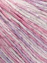 Fiber Content 70% Mercerised Cotton, 30% Viscose, White, Light Pink, Light Lilac, Brand KUKA, Yarn Thickness 2 Fine  Sport, Baby, fnt2-57577