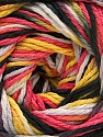 Fiber Content 100% Acrylic, Yellow, White, Salmon, Brand ICE, Grey, Black, Yarn Thickness 3 Light  DK, Light, Worsted, fnt2-57763