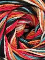 Fiber Content 100% Acrylic, White, Turquoise, Salmon, Orange, Brand ICE, Black, Yarn Thickness 3 Light  DK, Light, Worsted, fnt2-57764