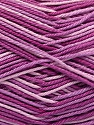 Ne: 8/4. Nm 14/4 Fiber Content 100% Mercerised Cotton, Lilac Shades, Brand ICE, Yarn Thickness 2 Fine  Sport, Baby, fnt2-57925