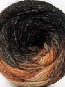 Fiber Content 90% Acrylic, 10% Polyamide, Brand ICE, Brown Shades, Black, Yarn Thickness 4 Medium  Worsted, Afghan, Aran, fnt2-58125