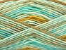 Fiber Content 100% Acrylic, White, Mint Green, Brand ICE, Gold, Yarn Thickness 3 Light  DK, Light, Worsted, fnt2-58134