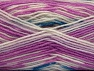 Fiber Content 75% Acrylic, 25% Wool, White, Orchid, Brand ICE, fnt2-58389