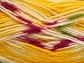 Fiber Content 75% Acrylic, 25% Wool, Yellow, White, Brand ICE, fnt2-58391