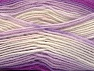 Fiber Content 75% Acrylic, 25% Wool, White, Purple, Lilac, Brand ICE, fnt2-58392
