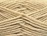 Fiber Content 72% Premium Acrylic, 3% Metallic Lurex, 25% Wool, Brand ICE, Beige, fnt2-58454
