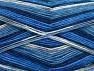 Fiber Content 75% Superwash Wool, 25% Polyamide, White, Brand ICE, Blue Shades, fnt2-59006