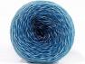 Fiber Content 75% Superwash Wool, 25% Polyamide, White, Brand ICE, Blue Shades, fnt2-59072