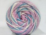 Fiber Content 50% Acrylic, 50% Polyamide, White, Light Pink, Light Lilac, Light Blue, Brand ICE, fnt2-59357