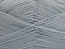 Fiber Content 75% Superwash Wool, 25% Polyamide, Brand ICE, Grey, Yarn Thickness 1 SuperFine  Sock, Fingering, Baby, fnt2-59492