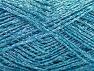 Fiber Content 80% Viscose, 20% Metallic Lurex, Turquoise, Brand ICE, fnt2-59854