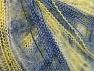 Fiber Content 37% Kid Mohair, 35% Acrylic, 28% Polyamide, Yellow, White, Brand ICE, Blue, fnt2-59975