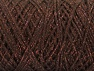 Fiber Content 90% Cotton, 10% Metallic Lurex, Brand ICE, Copper, Brown, Yarn Thickness 4 Medium  Worsted, Afghan, Aran, fnt2-60135